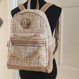 Aldo New Bagaloo Backpack Tan with Tweed Front